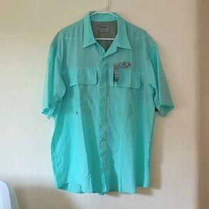 Mossy Oak High Performance Fishing Shirt Mens XL